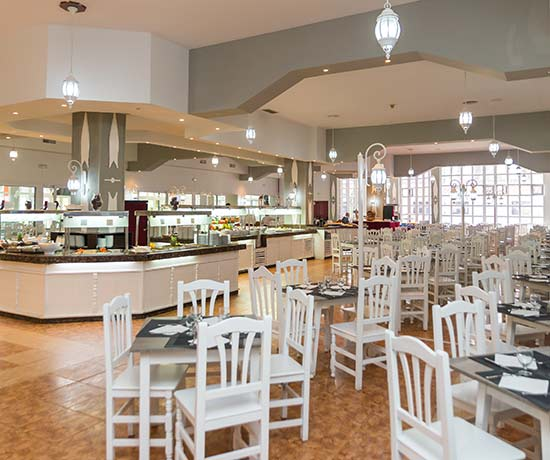 gastronomic variety in the buffet restaurant at the roc barbella park hotel in Marbella