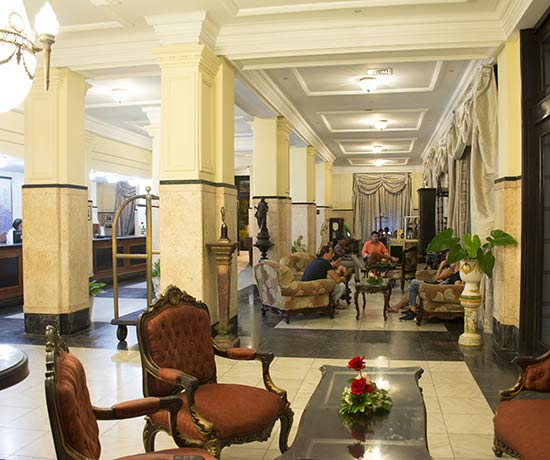 We welcome you to the hotel roc presidente in Havana